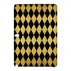 Diamond1 Black Marble & Gold Brushed Metal Samsung Galaxy Tab Pro 12 2 Hardshell Case by trendistuff