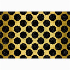 Circles2 Black Marble & Gold Brushed Metal (r) Collage 12  X 18  by trendistuff
