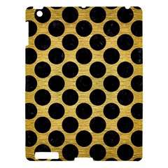 Circles2 Black Marble & Gold Brushed Metal (r) Apple Ipad 3/4 Hardshell Case by trendistuff