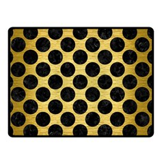 Circles2 Black Marble & Gold Brushed Metal (r) Double Sided Fleece Blanket (small) by trendistuff