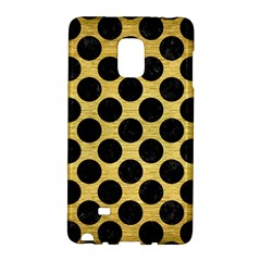 Circles2 Black Marble & Gold Brushed Metal (r) Samsung Galaxy Note Edge Hardshell Case by trendistuff
