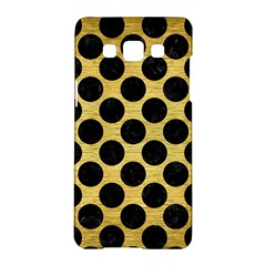 Circles2 Black Marble & Gold Brushed Metal (r) Samsung Galaxy A5 Hardshell Case