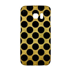 Circles2 Black Marble & Gold Brushed Metal (r) Samsung Galaxy S6 Edge Hardshell Case by trendistuff