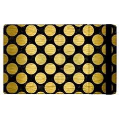 Circles2 Black Marble & Gold Brushed Metal Apple Ipad 2 Flip Case by trendistuff