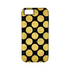 Circles2 Black Marble & Gold Brushed Metal Apple Iphone 5 Classic Hardshell Case (pc+silicone) by trendistuff