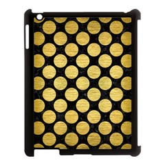 Circles2 Black Marble & Gold Brushed Metal Apple Ipad 3/4 Case (black) by trendistuff
