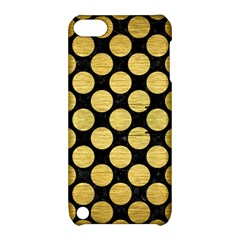 Circles2 Black Marble & Gold Brushed Metal Apple Ipod Touch 5 Hardshell Case With Stand by trendistuff