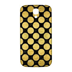 Circles2 Black Marble & Gold Brushed Metal Samsung Galaxy S4 I9500/i9505  Hardshell Back Case by trendistuff