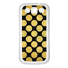 Circles2 Black Marble & Gold Brushed Metal Samsung Galaxy S3 Back Case (white) by trendistuff