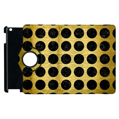 Circles1 Black Marble & Gold Brushed Metal (r) Apple Ipad 2 Flip 360 Case by trendistuff