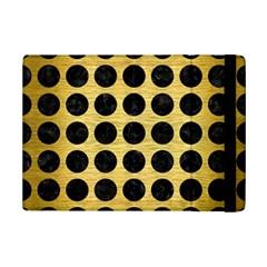 Circles1 Black Marble & Gold Brushed Metal (r) Apple Ipad Mini 2 Flip Case by trendistuff
