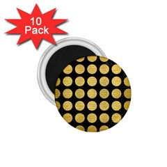 Circles1 Black Marble & Gold Brushed Metal 1 75  Magnet (10 Pack)  by trendistuff