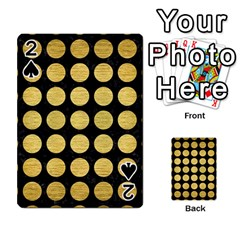 Circles1 Black Marble & Gold Brushed Metal Playing Cards 54 Designs