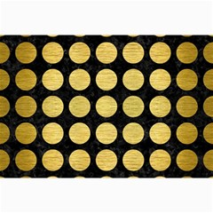 Circles1 Black Marble & Gold Brushed Metal Collage 12  X 18  by trendistuff