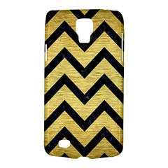 Chevron9 Black Marble & Gold Brushed Metal (r) Samsung Galaxy S4 Active (i9295) Hardshell Case by trendistuff