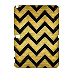 Chevron9 Black Marble & Gold Brushed Metal (r) Samsung Galaxy Note 10 1 (p600) Hardshell Case by trendistuff