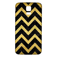 CHV9 BK MARBLE GOLD Samsung Galaxy S5 Back Case (White) by trendistuff