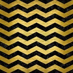 CHEVRON3 BLACK MARBLE & GOLD BRUSHED METAL #1 DAD 3D Greeting Card (8x4) Inside