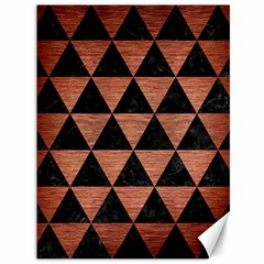 Triangle3 Black Marble & Copper Brushed Metal Canvas 36  X 48  by trendistuff