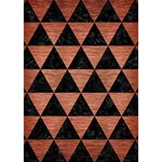 TRIANGLE3 BLACK MARBLE & COPPER BRUSHED METAL GIRL 3D Greeting Card (7x5) Inside