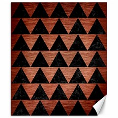 Triangle2 Black Marble & Copper Brushed Metal Canvas 20  X 24  by trendistuff