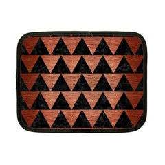 Triangle2 Black Marble & Copper Brushed Metal Netbook Case (small) by trendistuff