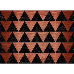 Triangle2 Black Marble & Copper Brushed Metal Birthday Cake 3d Greeting Card (7x5)