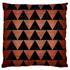 Triangle2 Black Marble & Copper Brushed Metal Large Cushion Case (two Sides) by trendistuff