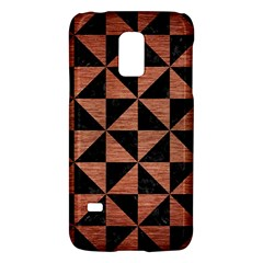 Triangle1 Black Marble & Copper Brushed Metal Samsung Galaxy S5 Mini Hardshell Case  by trendistuff