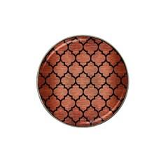 Tile1 Black Marble & Copper Brushed Metal (r) Hat Clip Ball Marker (4 Pack) by trendistuff