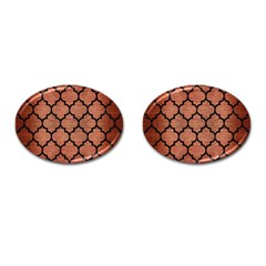 Tile1 Black Marble & Copper Brushed Metal (r) Cufflinks (oval) by trendistuff