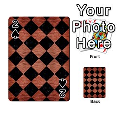 Square2 Black Marble & Copper Brushed Metal Playing Cards 54 Designs