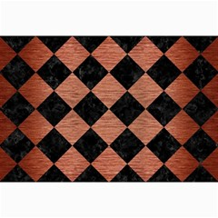Square2 Black Marble & Copper Brushed Metal Collage 12  X 18  by trendistuff