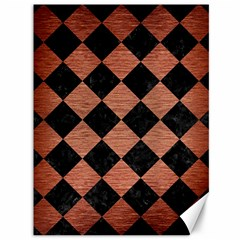 Square2 Black Marble & Copper Brushed Metal Canvas 36  X 48  by trendistuff