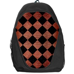SQR2 BK MARBLE COPPER Backpack Bag by trendistuff
