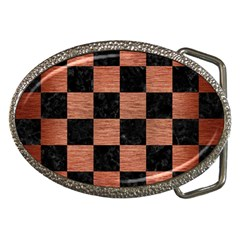 Square1 Black Marble & Copper Brushed Metal Belt Buckle by trendistuff