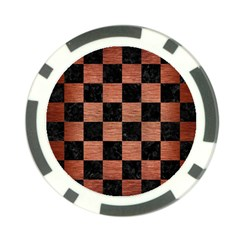 Square1 Black Marble & Copper Brushed Metal Poker Chip Card Guard (10 Pack) by trendistuff