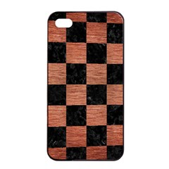 Square1 Black Marble & Copper Brushed Metal Apple Iphone 4/4s Seamless Case (black) by trendistuff