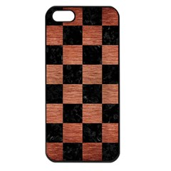 Square1 Black Marble & Copper Brushed Metal Apple Iphone 5 Seamless Case (black) by trendistuff