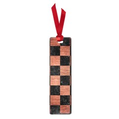 Square1 Black Marble & Copper Brushed Metal Small Book Mark by trendistuff