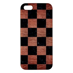 Square1 Black Marble & Copper Brushed Metal Apple Iphone 5 Premium Hardshell Case by trendistuff