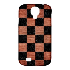 Square1 Black Marble & Copper Brushed Metal Samsung Galaxy S4 Classic Hardshell Case (pc+silicone) by trendistuff