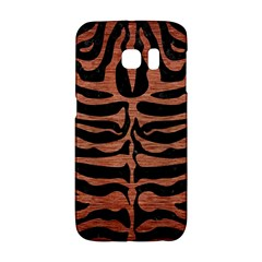 Skin2 Black Marble & Copper Brushed Metal Samsung Galaxy S6 Edge Hardshell Case by trendistuff