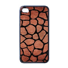 Skin1 Black Marble & Copper Brushed Metal Apple Iphone 4 Case (black) by trendistuff