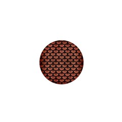 Scales3 Black Marble & Copper Brushed Metal (r) 1  Mini Magnet by trendistuff
