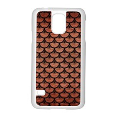Scales3 Black Marble & Copper Brushed Metal (r) Samsung Galaxy S5 Case (white) by trendistuff