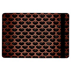 Scales3 Black Marble & Copper Brushed Metal Apple Ipad Air Flip Case by trendistuff