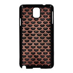Scales3 Black Marble & Copper Brushed Metal Samsung Galaxy Note 3 Neo Hardshell Case (black)