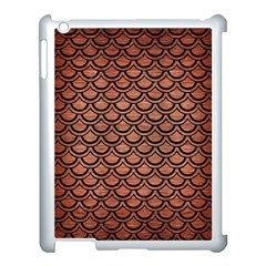 Scales2 Black Marble & Copper Brushed Metal (r) Apple Ipad 3/4 Case (white) by trendistuff