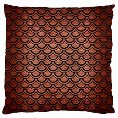 SCA2 BK MARBLE COPPER (R) Standard Flano Cushion Cases (One Side)  by trendistuff